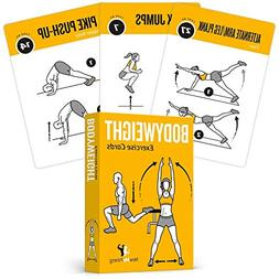 Bodyweight Exercise Cards - Easy To Use Great At Home & Trav