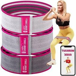 PeoBeo Booty Bands for Women - Fabric Resistance Bands for L