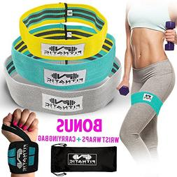 Booty Builder Bands | Set of 3 Hip Band for Women & Men | Th