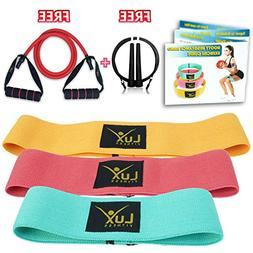 Lux Fitness Booty Resistance Bands Loop Hip Exercise Workout
