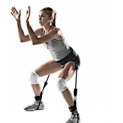 Fitness Jump Leg Strength Resistance Band Bounce Trainer Rop