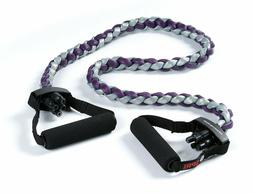 SPRI Braided Xertube Resistance Band Exercise Cord Purple