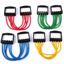 Chest Expander Resistance Cable Bands Puller Exercise Fitnes
