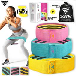 Cloth Fabric Resistance Booty Bands Loop Set of 3 Exercise W