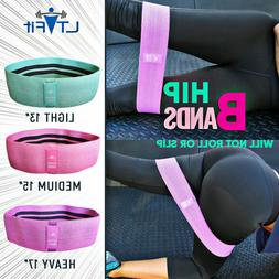 Cloth Fabric Resistance Hip Booty Bands Loop Exercise Workou