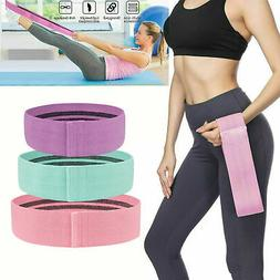 Cloth Fabric Resistance Hip Booty Bands Loop Set of 3 Exerci