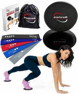 Borchent Core Sliders 5 Resistance Bands Fitness Equipment H