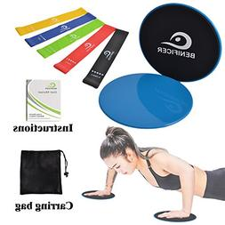 Benificer Core Sliders and Resistance Bands, Set of 5 Exerci