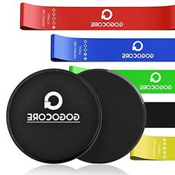 GOGOCORE Core Sliders and Resistance Bands, Ultimate Core Tr