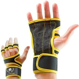 Mava Sports Cross Training Gloves with Integrated Wrist Wrap