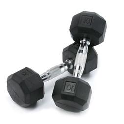 SPRI Dumbbells Deluxe Rubber Coated Hand Weights All-Purpose
