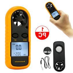 Digital Air Wind Speed Anemometer Temperature Gauge Meter Te