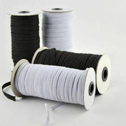 Elastic Band Sewing Rope White Black Heavy Stretch Knit Spoo
