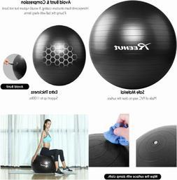 REEHUT Exercise Ball  Extra Thick Yoga Chair, 65 cm, Black