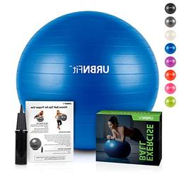 URBNFit Exercise Ball  for Stability & Yoga - Workout Guide