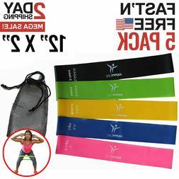 Exercise Bands Resistance Set Fitness Workout Stretch Elasti