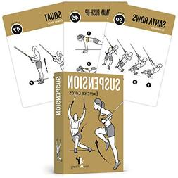 Suspension Exercise Cards, Set of 62 :: Use With TRX, Woss,