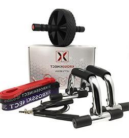 Kross Kinect Exercise Kit - Push Up Bars, Ab wheel, Jump rop