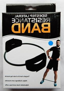 Exercise Leg Resistance Band with Ankle Cuffs. Sidestep Late