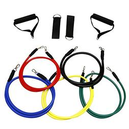 VIVOHOME Exercise Resistance Band Set 10 Pieces