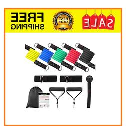 exercise resistance bands set anti snap workout