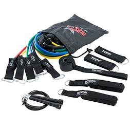 Exercise Resistance Bands Set with Adjustable Speed Jump Rop