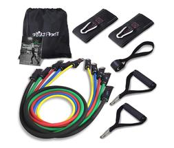 Exercise Resistance Bands with Handles - 5 Fitness Workout B