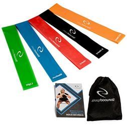 Starwood Sports Exercise Resistance Loop Bands Set of 5