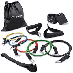 Exercise Workout Resistance Band Set - Training Tubes Door A