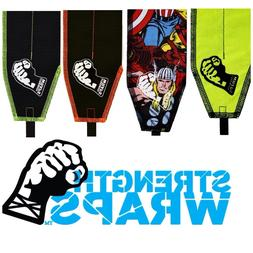 STRENGTH WRAPS Extra LONG CrossFit Power Lifting Wrist Wraps