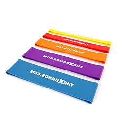 The x Bands Extra Thick Exercise Resistance Bands - Set of 5