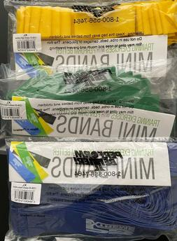 Perform Better Extreme Mini Bands, Three Sets of 10, Yellow,