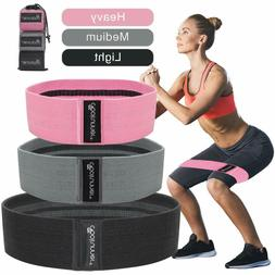 Fabric Hip Resistance Bands Booty Bands for Women and Men Wo