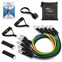 Fit Simplify Resistance Band Set 12 Pieces with Exercise Tub