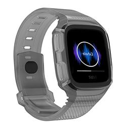 Fitbit Versa Bands, Sporty Silicone Strap Replacement Bands