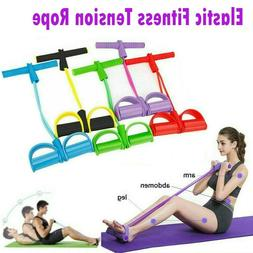 Fitness Gum 4 Tube Resistance Bands Pedal Exerciser Gym Acce