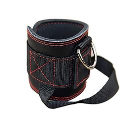 Fitness Padded Ankle Strap for Cable Machines,Leather,Streng