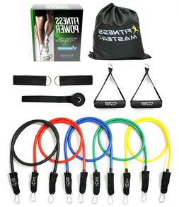 Fitness Power Resistance Tension Band Set Weights Exercise A