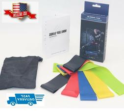 Fitness resistance bands set for workout and stretching - se