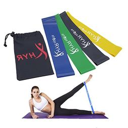 HYR Fitness Workout Heavy Bands Yoga Pilates Exercise Band R