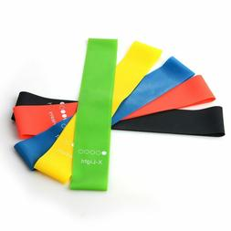 Five Colors Yoga Rubber Resistance Bands Indoor Outdoor Fitn