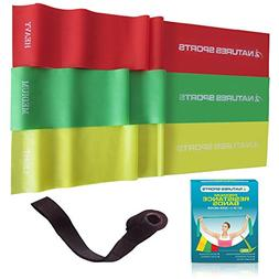 Flat Exercise Stretch Bands 3 x Resistance Bands Set  Latex