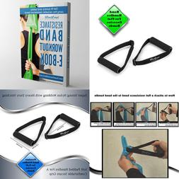 Super Exercise Band USA Flat Resistance Band Handles For Com