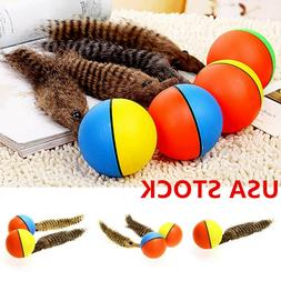 Fun Pet Dog Puppy Cat Motorized Rolling Ball with Weasel App