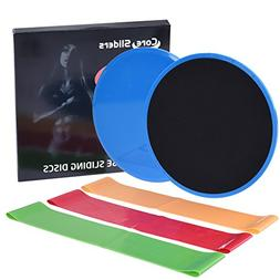 RUNACC Gliding Discs and Resistance Loop Bands Set Workout S