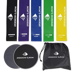 Gliding Exercise Discs  Resistance Loop Bands Set World Wond
