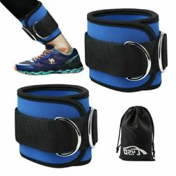 Heavy D-Rings Ankle Sport Strap Set Leg Gym Attachment Machi