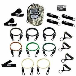 Heavy Duty Combat Ready Warrior Resistance Band Sets w/ Anti