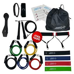 FAMCO FITNESS 17 Pc Heavy Duty Resistance Bands Set Home Gym