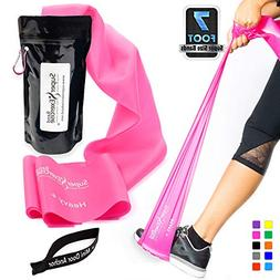Super Exercise Band Heavy+ Pink 7 ft. Long Latex Free Resist